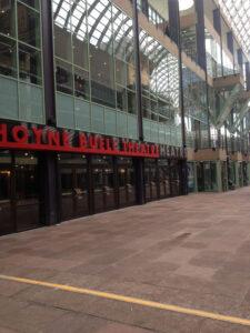 Denver Performing Arts Complex atrium ground level area after renovation