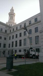 Denver Courthouse during renovation