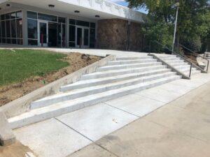 Longs Peak Middle School front steps