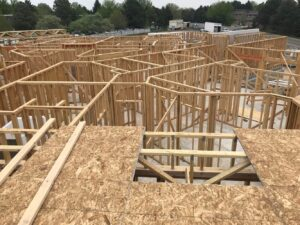 Lots of framing in place from above on jobsite