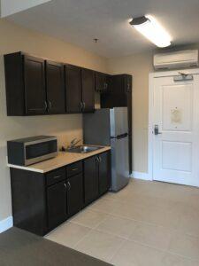Waterford Grand Senior Living apartment kitchen